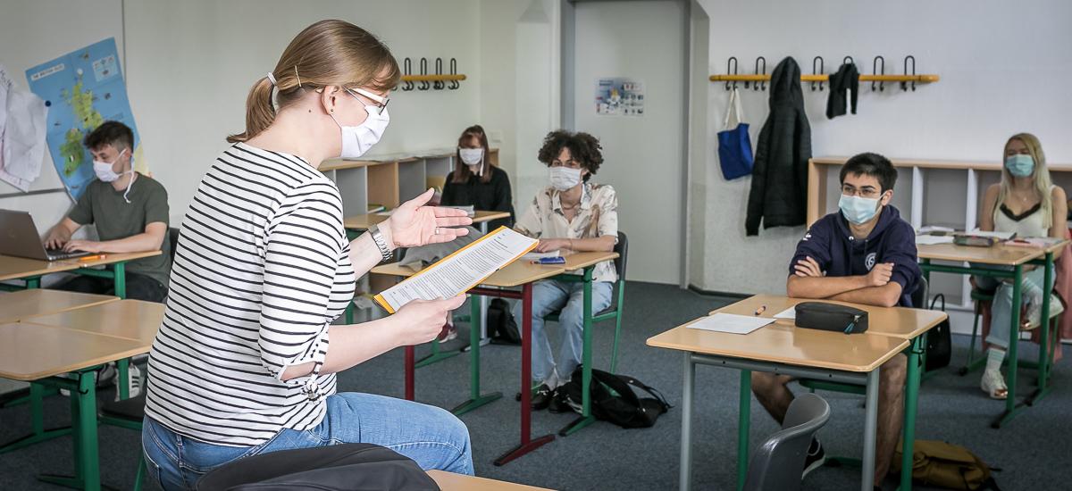 Ratsgymnasium Rheda-Wiedenbrück. Schulbetrieb während Corona